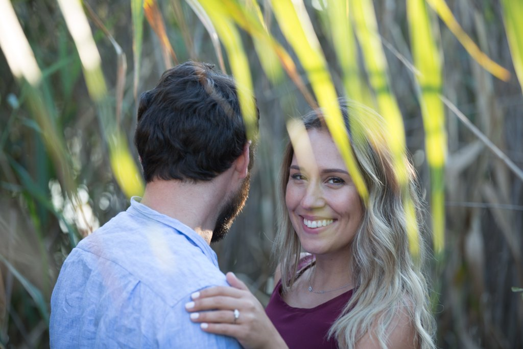 Sam & Cam's engagement session in the Bluffs